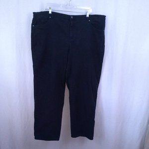 Gloria Vanderbilt Amanda womens jeans 20W Black